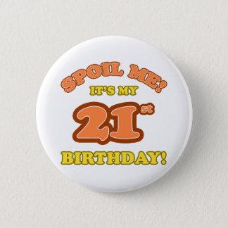 Silly 21st Birthday Present 2 Inch Round Button