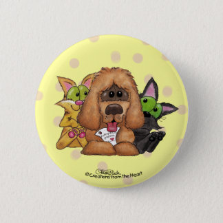 Silly and Tig with Sassie-Pet Adoption is LOVE 2 Inch Round Button