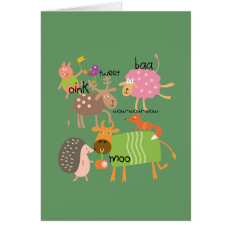 Silly Animals Card