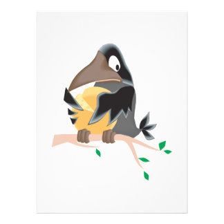 silly black crow eating cheese personalized invitations