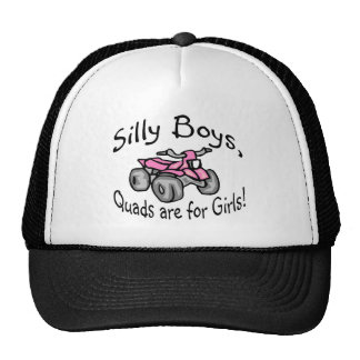 Silly Boys Quads Are For Girls Mesh Hat