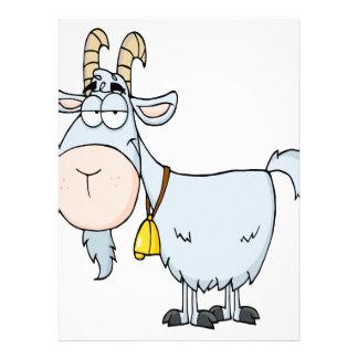 silly cartoon billy goat custom invitation