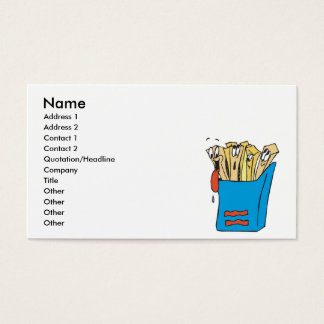 silly cartoon french fries business card