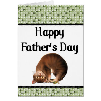Silly Cat - Happy Father's Day Greeting Card