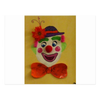 Silly Clown Postcard
