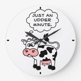 Silly Cow Just An Udder Minute Country Clock