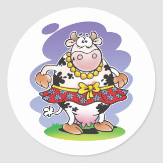 Silly Cow Matilda Classic Round Sticker