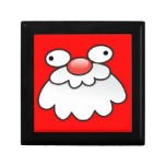 Silly Crazy Santa face! Jewelry Boxes