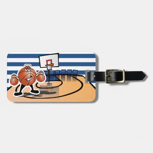 Silly Cute Basketball Sport Character Bag Tag