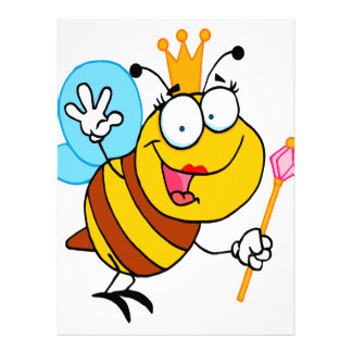 silly cute cartoon queen bee custom announcements