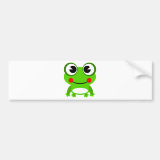silly cute frog bumper sticker