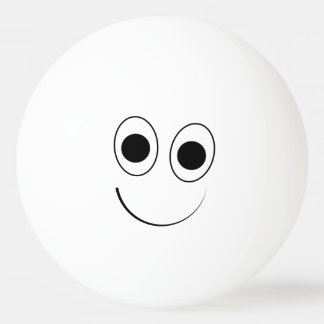 Silly, Cute Smiling Face Ping Pong Ball