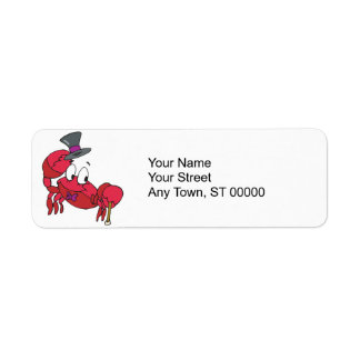silly dancing crab return address label