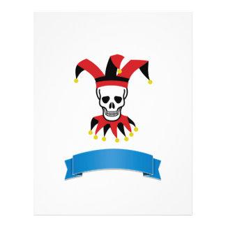 silly death clown personalized letterhead