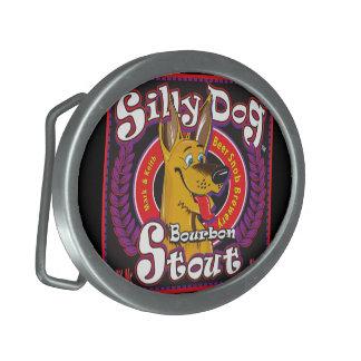 Silly Dog Bourbon Stout Oval Belt Buckle