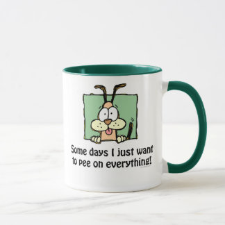 Silly Dog Pee Humor Mug