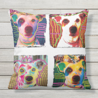Silly Dog pop-art dog pillow