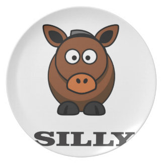 silly donkey party plate
