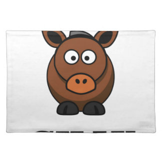 silly donkey place mat