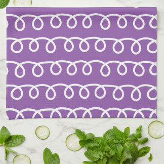 Silly Emoji Ghost (purple swirl) Kitchen Towel
