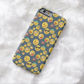 Silly Emoji Grey Pattern Barely There iPhone 6 Case