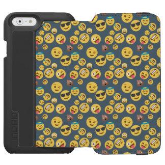 Silly Emoji Grey Pattern Incipio Watson™ iPhone 6 Wallet Case