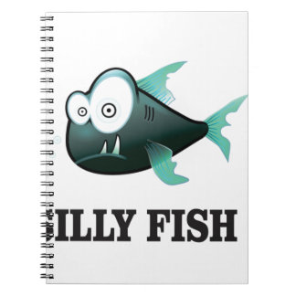 silly fish spiral notebook