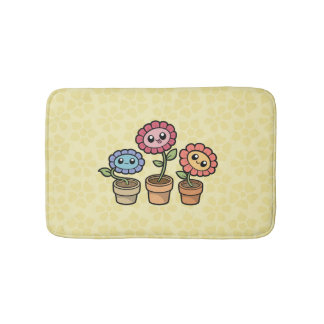 Silly Flowers bath mat