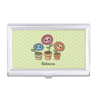 Silly Flowers business card holder