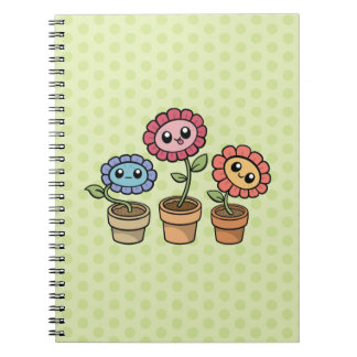 Silly Flowers notebook
