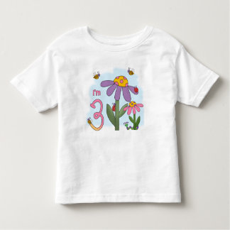 Silly Garden 3rd Birthday Toddler T-shirt