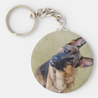 Silly German Shepherd Keychain