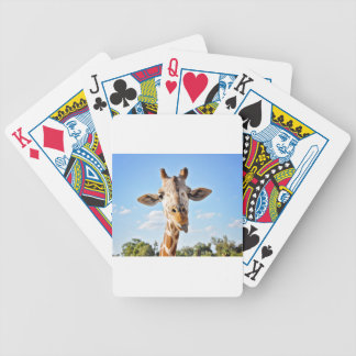 Silly Giraffe Bicycle Playing Cards