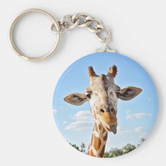 Silly Giraffe Keychain