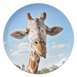 Silly Giraffe Plate