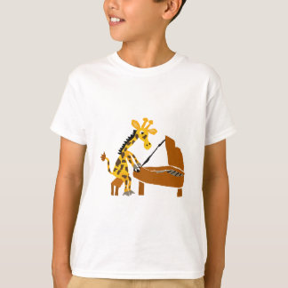 Silly Giraffe Playing the Piano T-Shirt