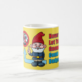 Silly Gnome and Badger Coffee Mug