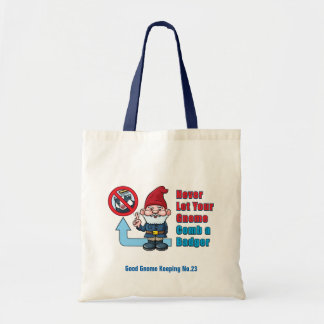 Silly Gnome and Badger Tote Bag