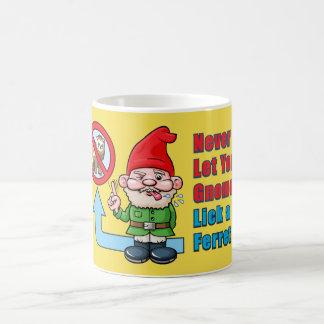 Silly Gnome And Ferret Coffee Mug