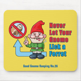 Silly Gnome And Ferret Mouse Pad