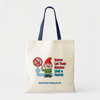 Silly Gnome And Ferret Tote Bag