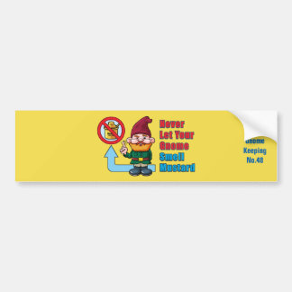 Silly Gnome and Mustard Bumper Sticker