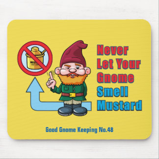 Silly Gnome and Mustard Mouse Pad