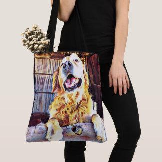 Silly Golden Retriever Photograph Tote Bag