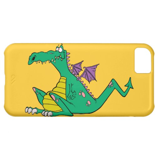 silly goofy cartoon green dragon iPhone 5C cover