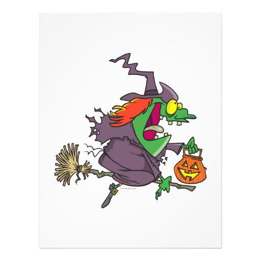 silly goofy halloween witch toon personalized flyer