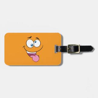 Silly Goofy Square Emoji Luggage Tag