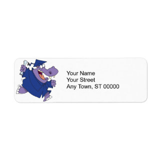 silly graduate graduation hippo cartoon