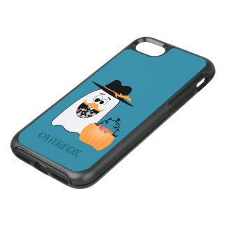 Silly Halloween Ghost Wants Your Candy OtterBox Symmetry iPhone 7 Case