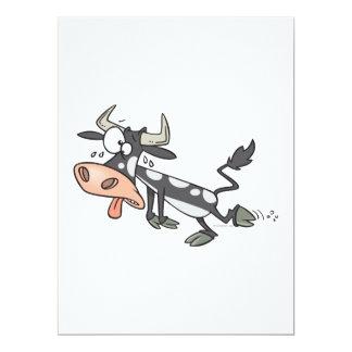 "silly hot cow cartoon character 6.5"" x 8.75"" invitation card"